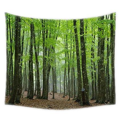 huilaiii comwarm tropische bos natuurlijke landschap patroon tapestry rechthoek slaapkamer woonkamer decor muur opknoping gobelin mural