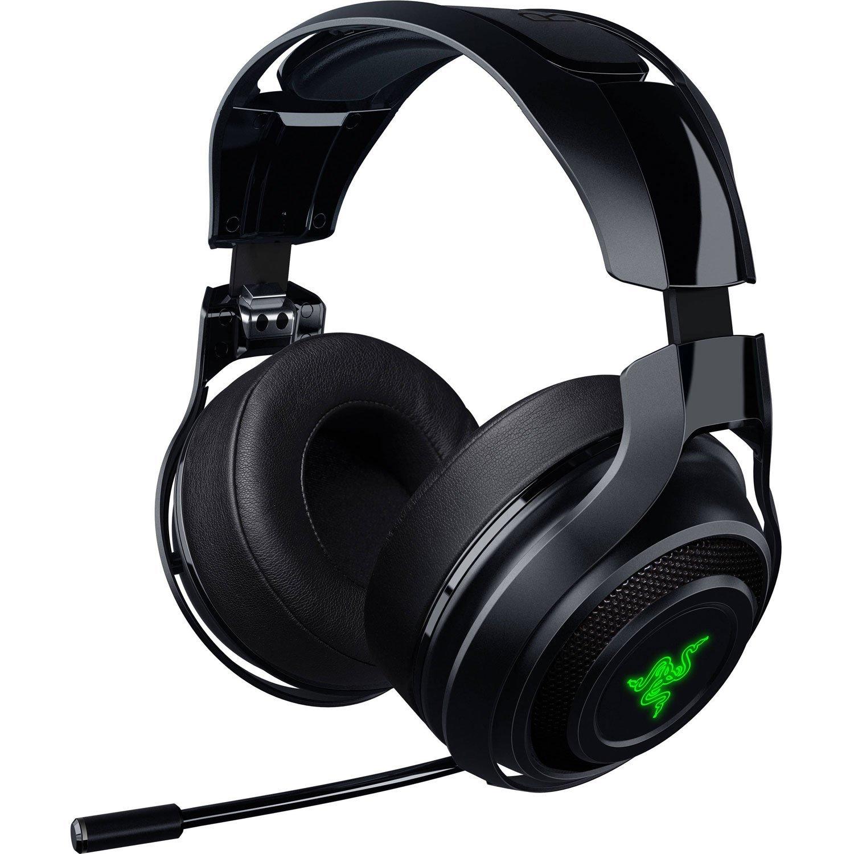 Razer ManO War Wireless 7 1 Surround Sound Chroma Headset Black Certified Refurbished Amazon puters & Accessories