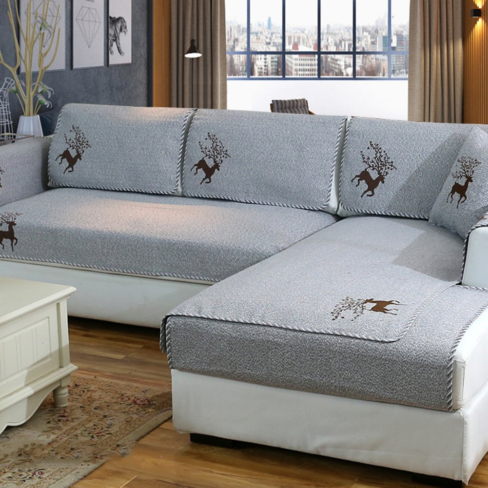 c75e6fca8b33 1PCS 18x18inch algodón Protector sofá Antideslizante Decorativo sofá  Cubiertas Tiro Fija para Funda cojín Sala ...
