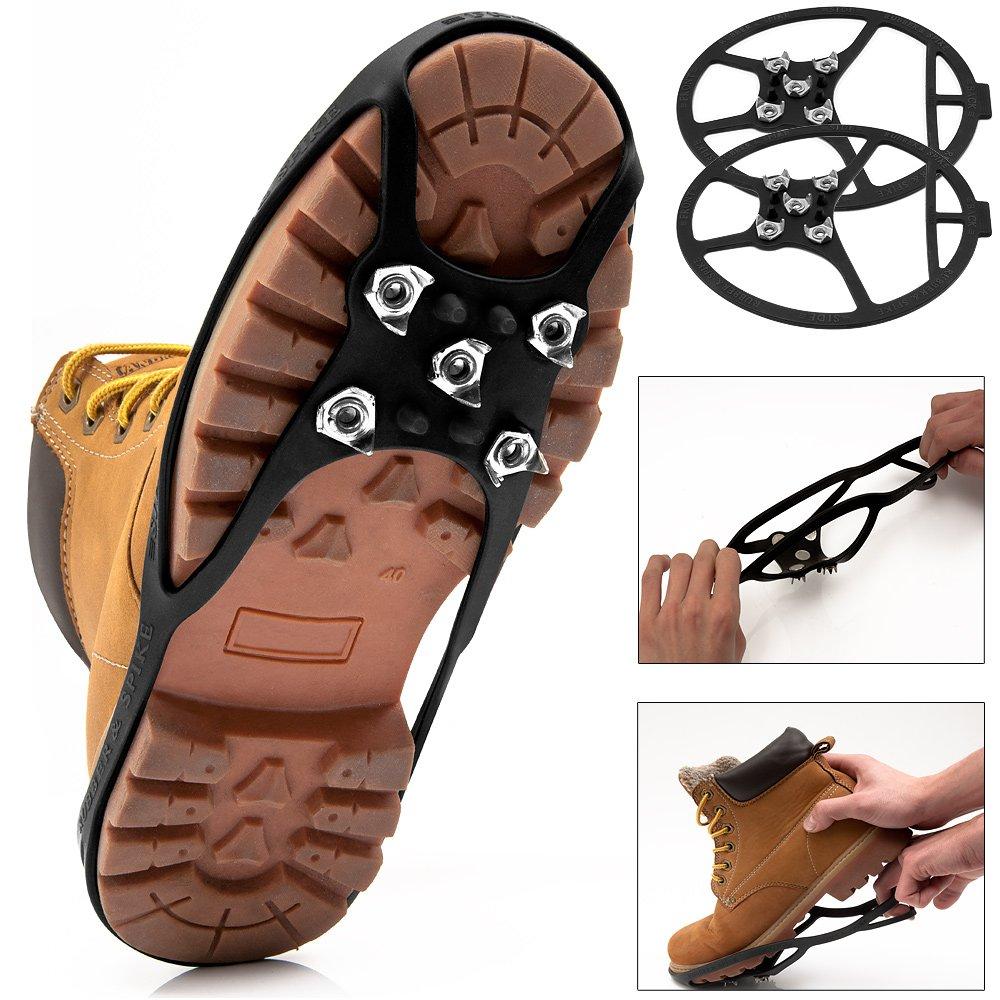 Crampons pour chaussures hiver Pointures 34-39 Pointes Sécurité pour Neige Glace Deuba