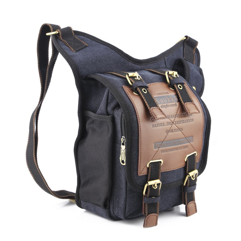 Amazon.com: Mens Boys Vintage Canvas Shoulder Military Messenger ...