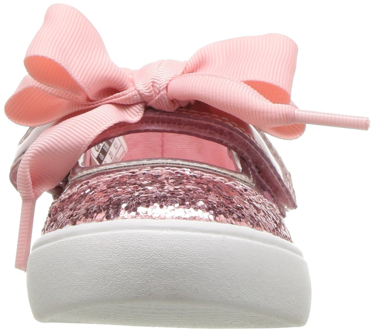 Carter's Girls' Alberta Bow Mary Jane Flat, Pink, 3 M US Little Kid by Carter's (Image #4)