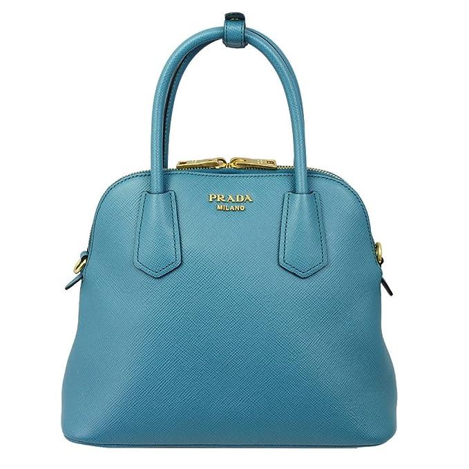 62c3b1a2de27 PRADA Women's Saffiano Leather Hand Bag W/Strap Blue Bl0907 Saffiano Laguna:  Amazon.ca: Clothing & Accessories
