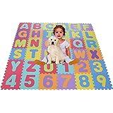 Smibie Alfombra de Puzzle Alfombra Infantil de Goma EVA 36/40pcs Desmontables Manta de Actividades de Espuma Gigante de Suelo para Bebé Niños (30*30cm Rosa)