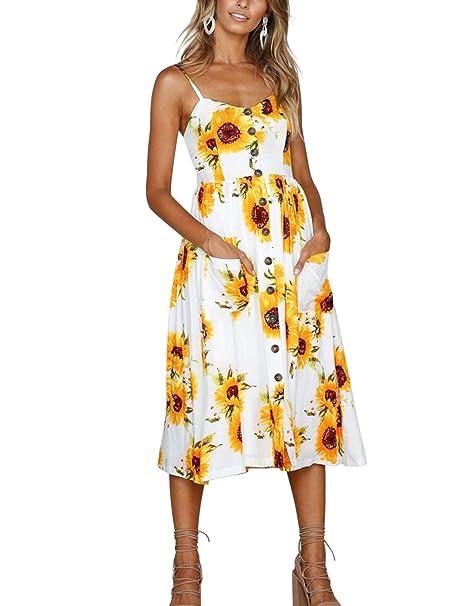 003658a3373d ... cbe8e 9275f Blooming Jelly Womens Sleeveless Dresses-Summer Spaghetti  Strap Split Button up  vast selection f3e21 dcd92 PRISCILLA HAWAIIAN MIDI  SWING ...