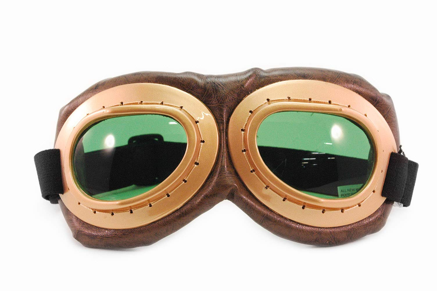 elope Aviator Costume Steampunk Goggles Gold & Green