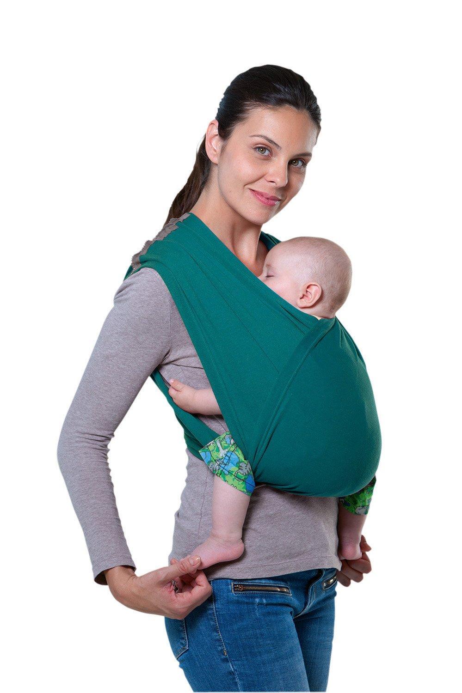 AMAZONAS Babytrage CarryBaby Petrol Bauchtrage 2 Schlaufen stressfrei ohne Knoten 4 Monate - 3 Jahre bis 15 kg AZ-5039002