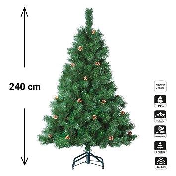 Künstlicher Weihnachtsbaum 2 40 M.Künstlicher Weihnachtsbaum Zapfen Tau 1273 äste Höhe 2 40 M
