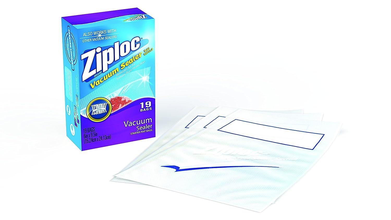 Ziploc ZL19PB3 Vacuum Seal Pint Bag, Clear, 1-Pack