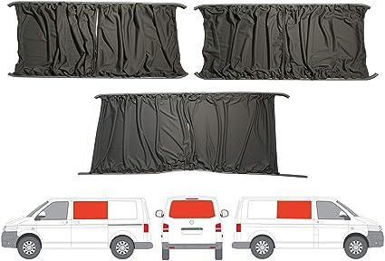 Gris Camper Van cortinas Kit para puerta corredera mano izquierda ...