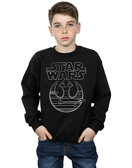 STAR WARS niños The Last Jedi Resistance Logo Metallic Camisa De Entrenamiento: Amazon.es: Ropa y accesorios