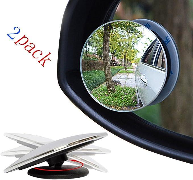 Myhonour Auto Rückspiegel 360 Grad Rotation Verstellbar Rückspiegel Toter Winkel Spiegel Car Sidemirror Totwinkel 51mm Rückspiegel Weitwinkel Spiegel Universelle Für Alle Autos 2 Pac Auto