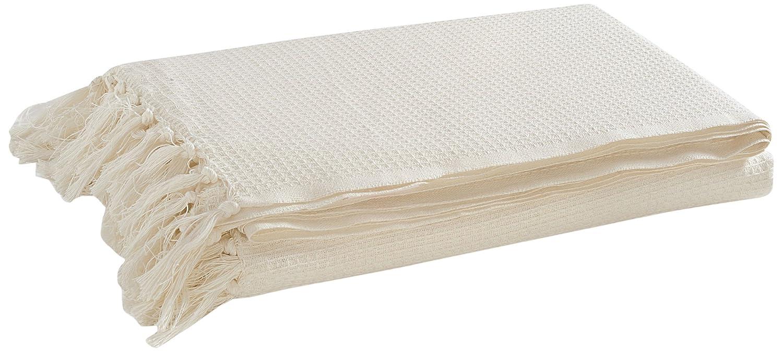 Double Bed Throw EHC 127/x 152/cm 100/% Coton gaufr/é Taille Simple Smoke