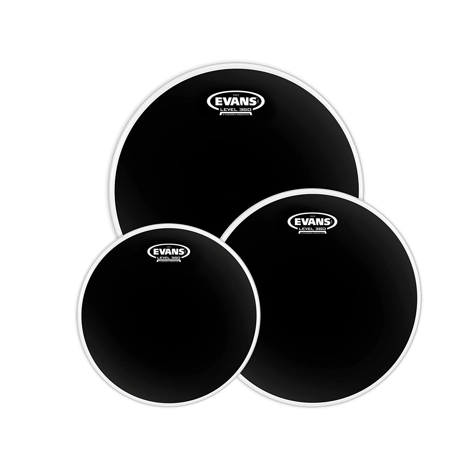 Evans Onyx 2-Ply Tompack Coated, Standard (12 inch, 13 inch, 16 inch) Evans Heads ETP-ONX2-S