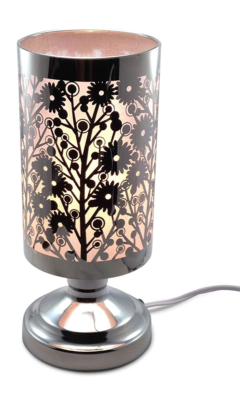 WildflowersレーザーカットステンレススチールElectric touch-controlled Fragranceランプ無料交換ハロゲン電球 B01EMFH60A