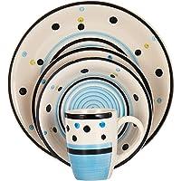 Harmony Stoneware Dinner Set of 16,Multi Color