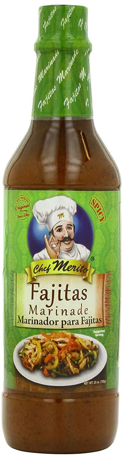 Amazon Com Chef Merito Marinade Fajita 25 Ounce Marinades And Seasoning Mixes Grocery Gourmet Food