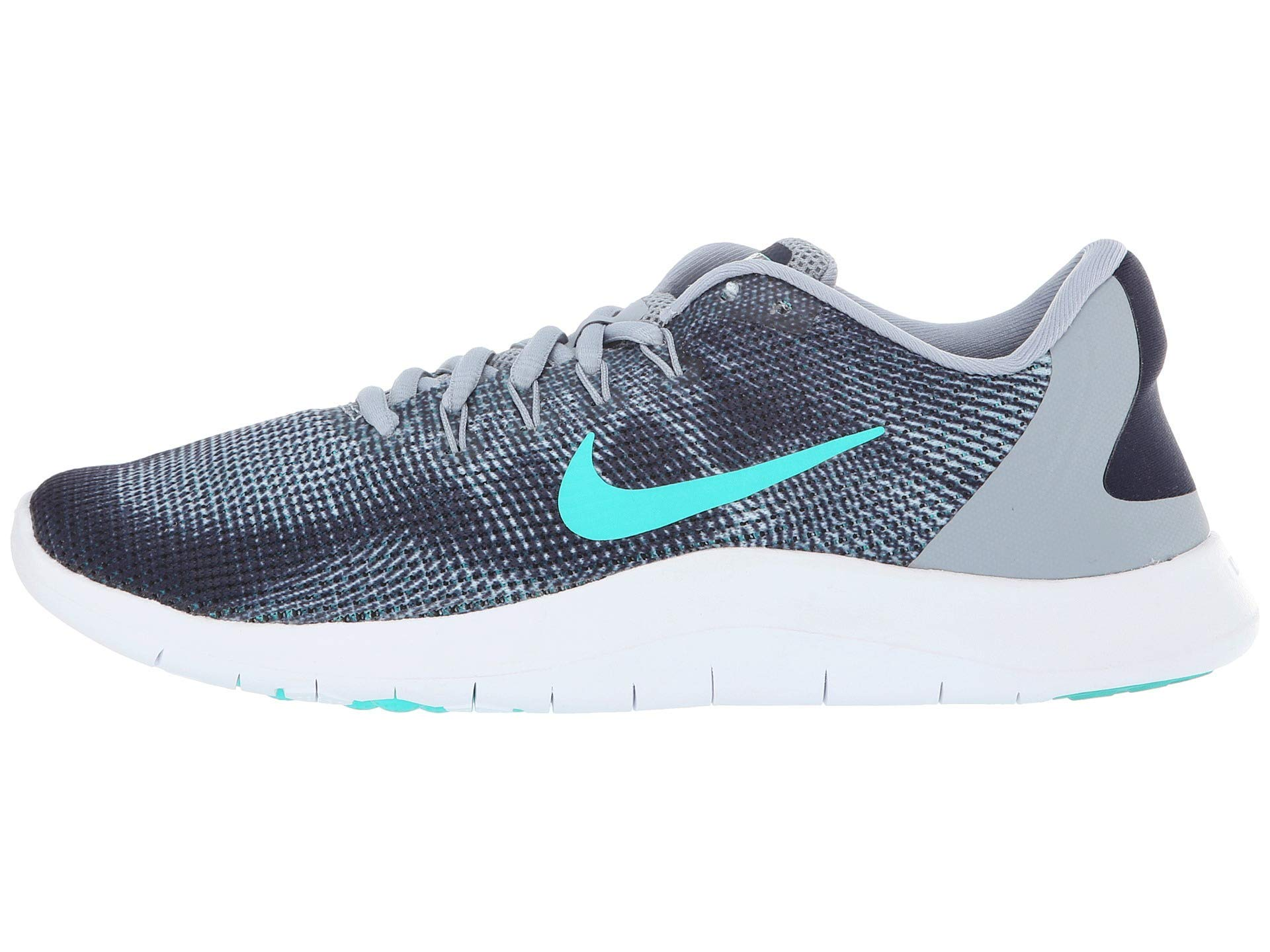 huge selection of 60739 cbe15 Nike Women's Flex 2018 RN Running Shoe (6.5 B US, Obsidian Mist/Hyper Jade)