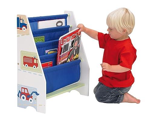 Stoffregal mit Fahrzeugmotiven –Kinder Bücherregale für Jungs