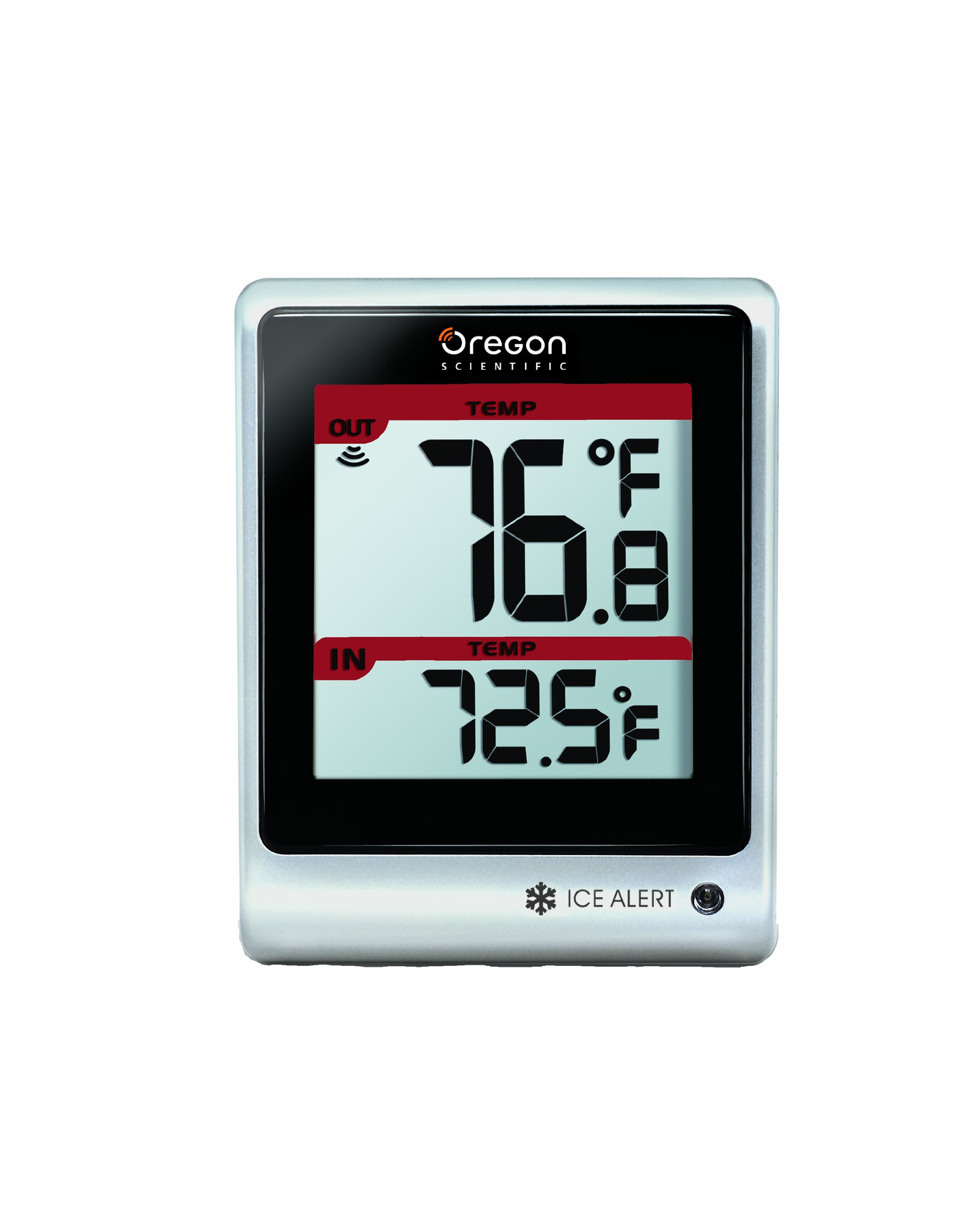 Oregon Scientific EMR201 Indoor/Outdoor Thermometer with Wireless Remote and Blinking LED Ice Alert