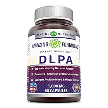 Amazing Formulas DLPA 1000 Mg 60 Capsules - Supports Healthy Nervous System* Promotes Formation of