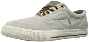 Polo Ralph Lauren Men's Vaughn Fleece Fashion Sneaker, Light Grey Heather, 7.5 D US
