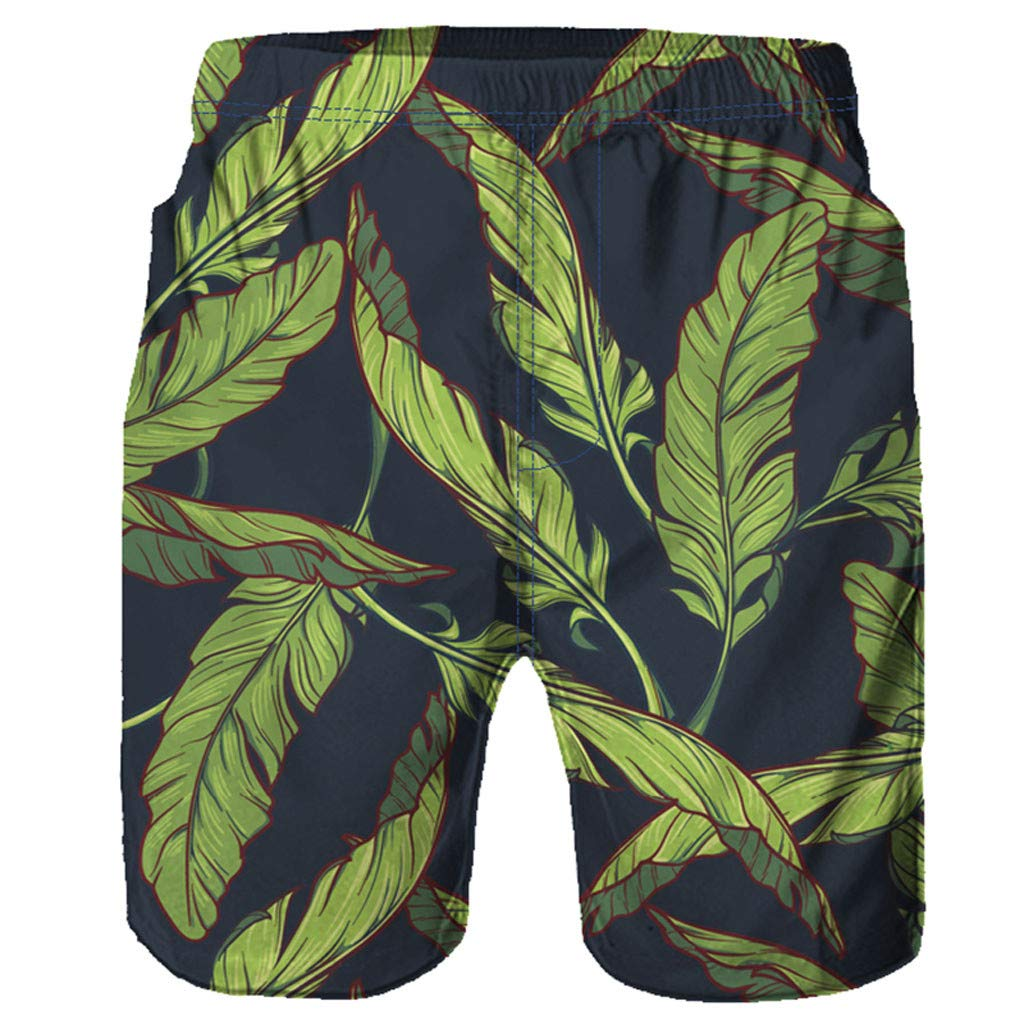 Manzzy Men Casual Printed Beach Pants-Men 3D Graffiti Beach Pants