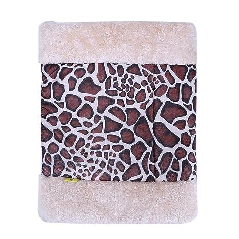 Domybest - Cama de invierno para mascotas (desmontable, pequeña, caseta para mascotas,