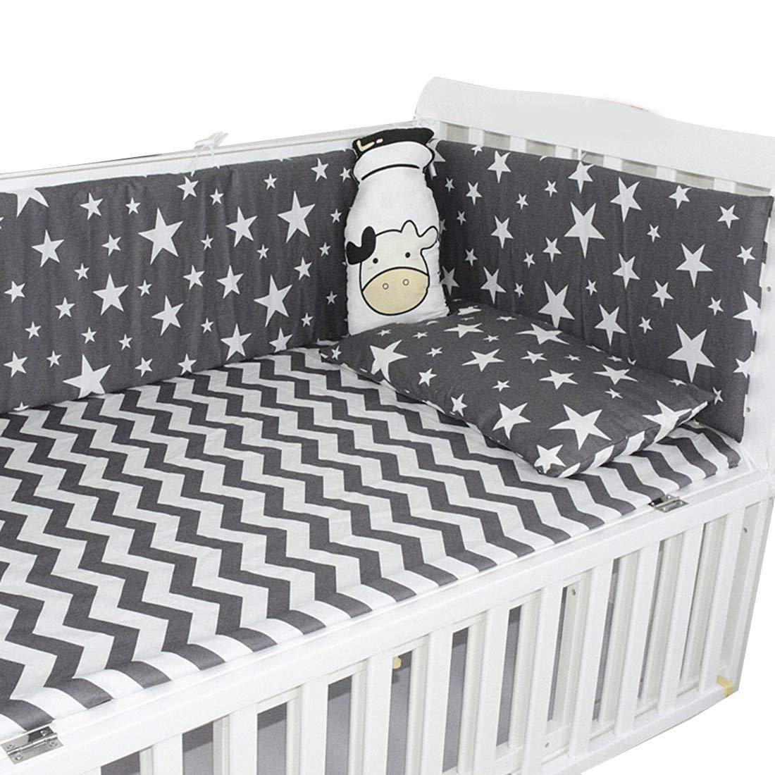 Jiyaru Baby Bumper Crib Cotton Breathable Liner Pad Toddler Guards Rail #5