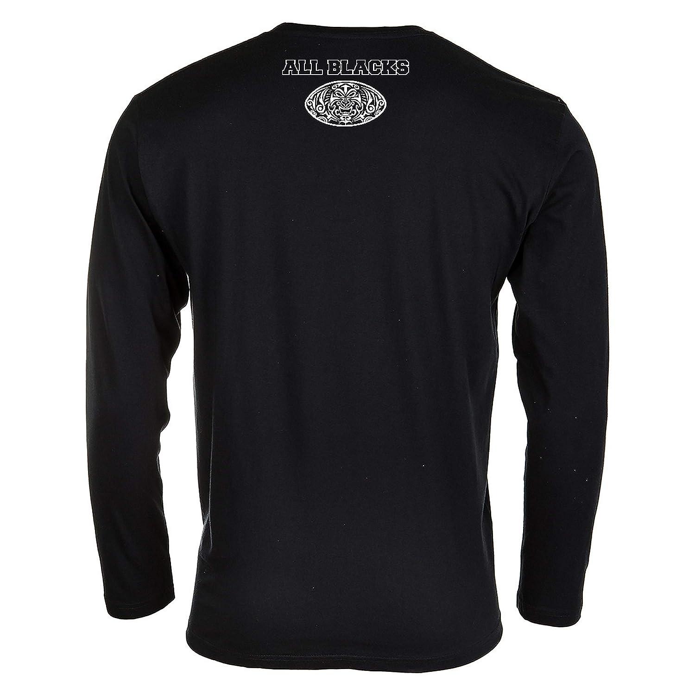 Casual Wear Hombre Rugby All Blacks Camiseta de Manga Larga Selecci/ón Nacional de Rugby de Nueva Zelanda