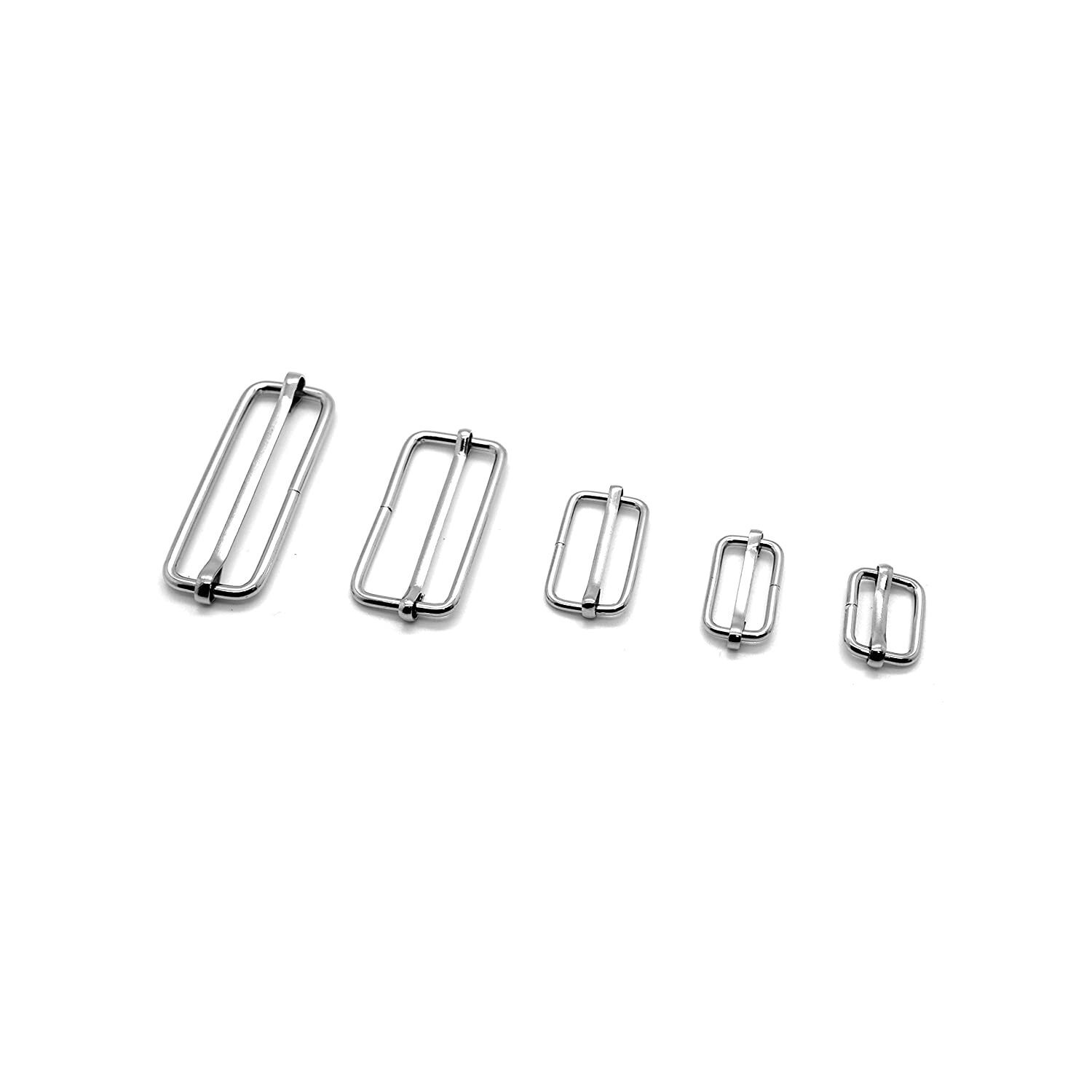 10 x Metal Sliding Bars Buckles Straps for Webbing Strap Tape Craft (16mm)