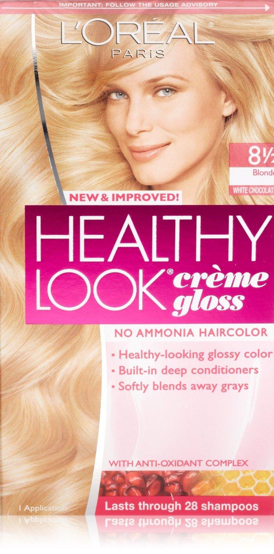 Amazon.com : L\'Oreal Paris Healthy Look Hair Color, 8G Soft Golden ...