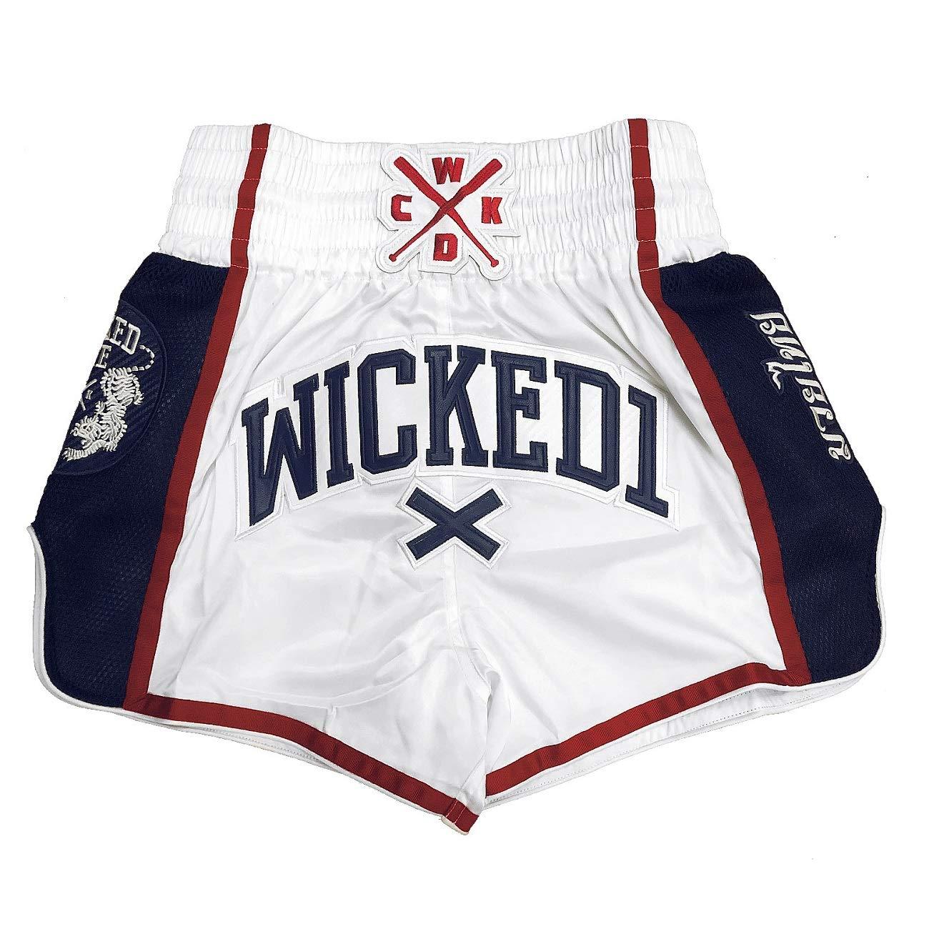 Wicked One Muay Thai Short de boxe tha/ïlandais pour homme Orange//bleu marine