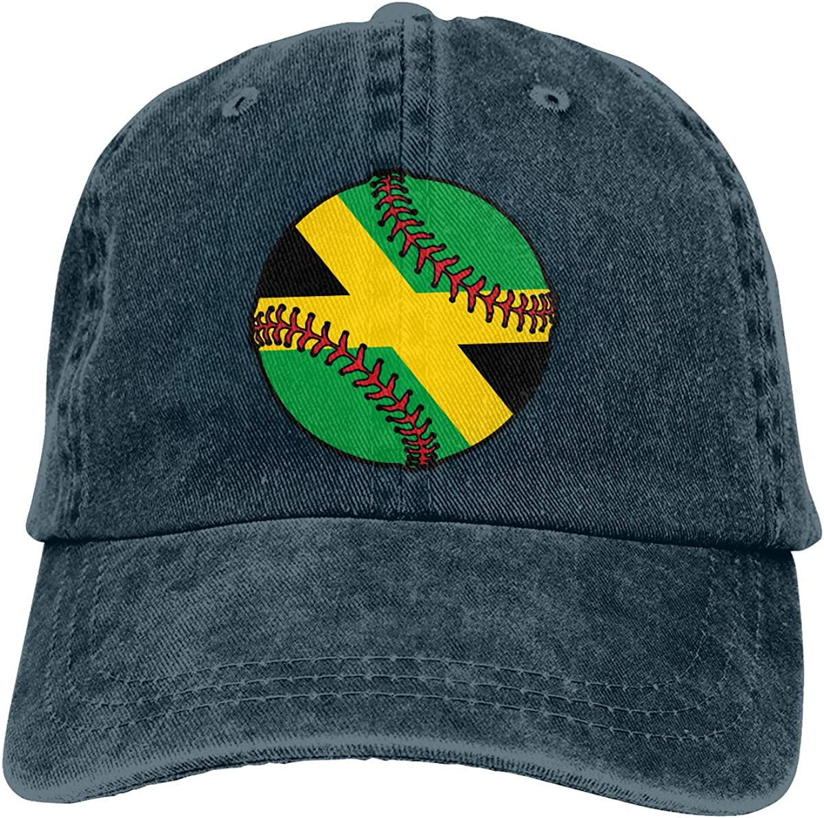 Jamaica Flag Baseball Unisex Custom Cowboy Hip Hop Cap Adjustable Baseball Cap