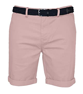 1be11767c9 westAce Mens Stretch Chino Shorts Slim Fit Smart Belted Half Pant:  Amazon.co.uk: Clothing