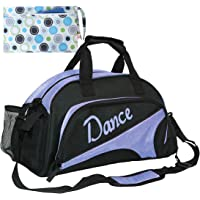 kilofly Girl's Ballet Dance Sports Gym Duffel Bag Travel Carry On + Handy Pouch