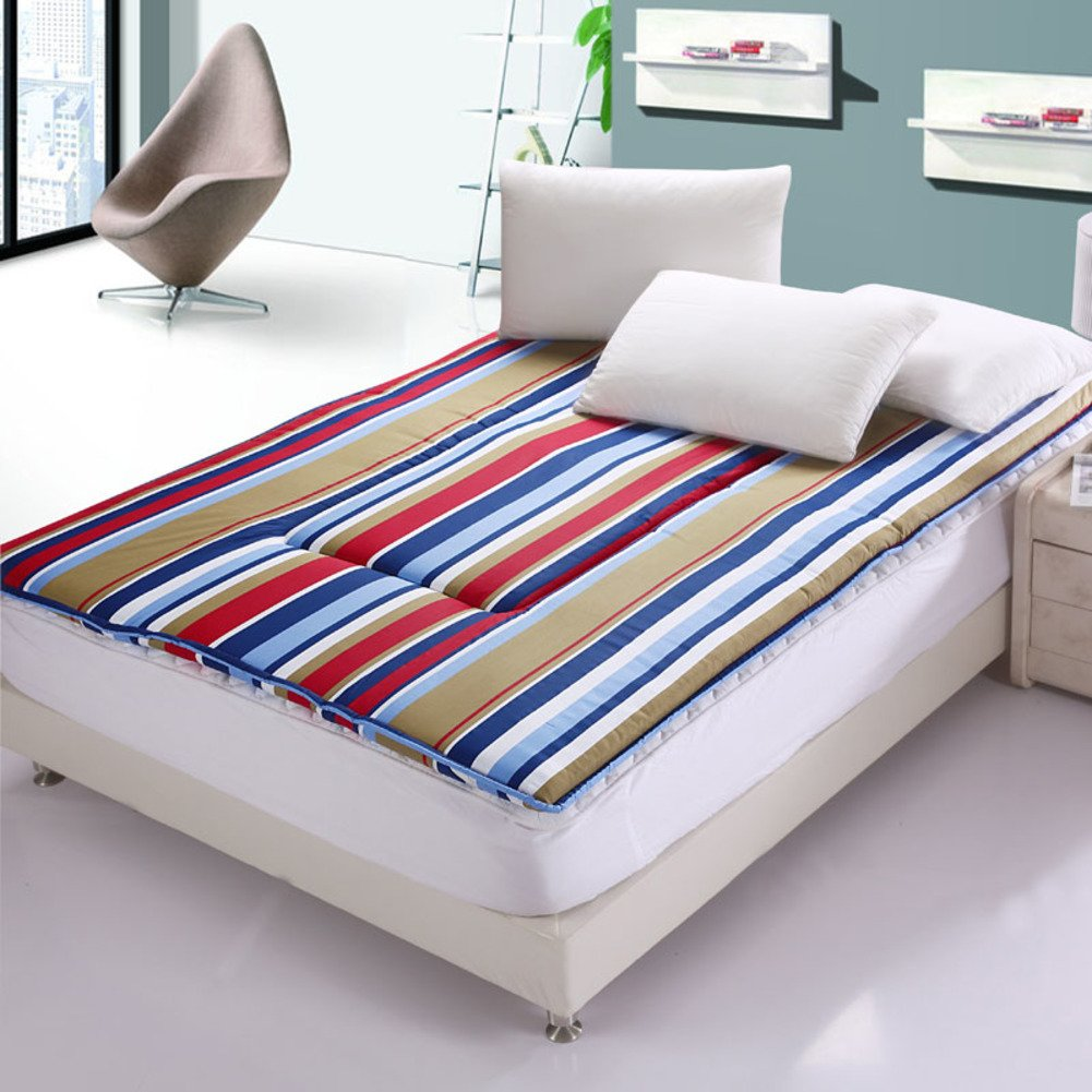 C 135x200cm(53x79inch) Cotton Mattress Thicken,[Japanese-Style], Tatami Mattress [Folding Mattress] Tatami Mattress-B 135x200cm(53x79inch)