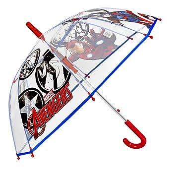Paraguas Largo Marvel Los Vengadores Niño con Capitán América Iron Man y Thor - Paraguas Transparente