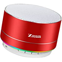 Zosam Portable Wireless Bluetooth Speaker Superb HD Sound &Enhanced Bass Mini Stereo Outdoor Speaker with Built-in Mic and SD/TF Card Slot for iPhone iPad PC Cellphone (Red)