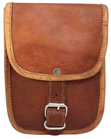 72447cced27c Anshika International 9x3x7 inches Genuine Leather Cross-Body Sling Bag with  2 Zippers 1 at Back   1 Inside Bag   Adjustable Shoulder Strap  Amazon.in   ...