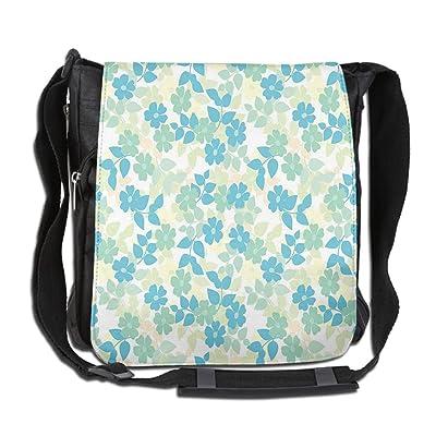 Lovebbag Flowers Leaves Vintage Fabric Design Style Classic Nostalgia Summertime Art Crossbody Messenger Bag