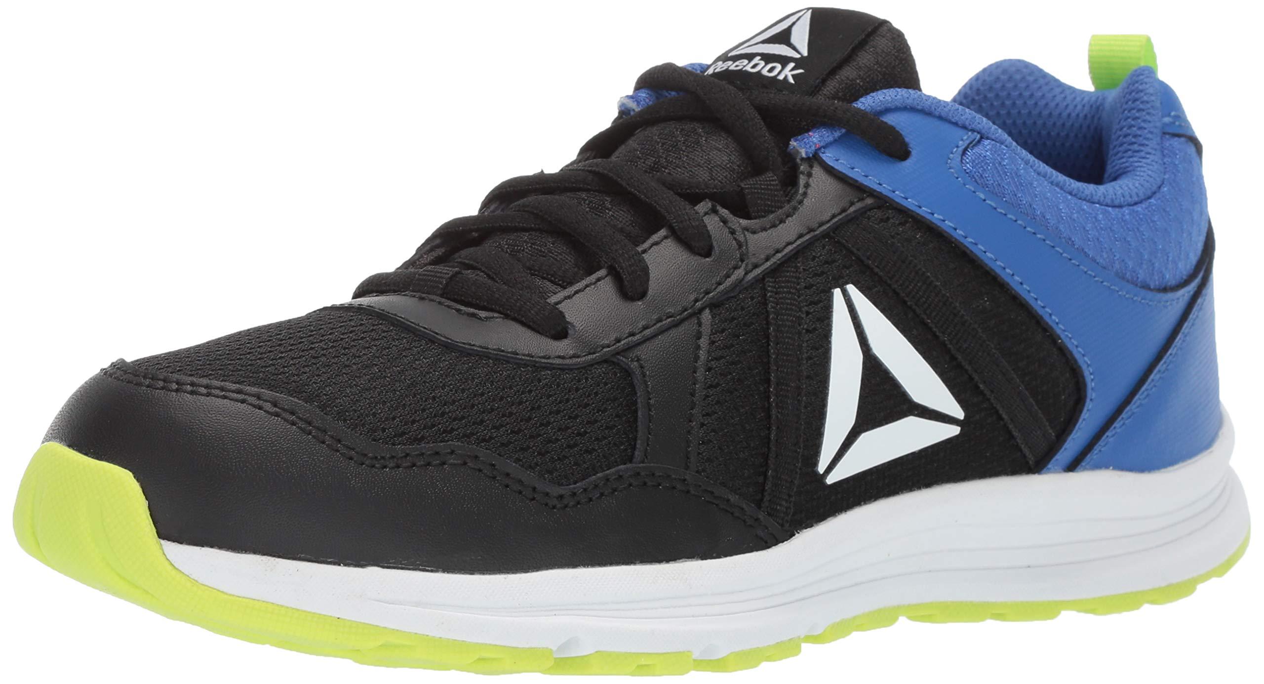 Reebok Boys' Almotio 4.0 Running Shoe, Black/neon Lime/Crushed Cobalt/White, 11.5 M US Little Kid