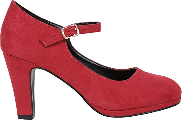 Red Mary Jane Heels