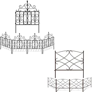 Amagabeli 32in x 10ft Garden Fence Bundle 24in x 12ft Garden Fence
