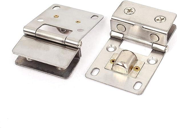 Agger 2pcs 4 mm-8 mm Bisagra Clip de Cristal Pivote para Puerta Bisagra para Puertas de Vidrio Pinzas gabinete del Vino: Amazon.es: Hogar