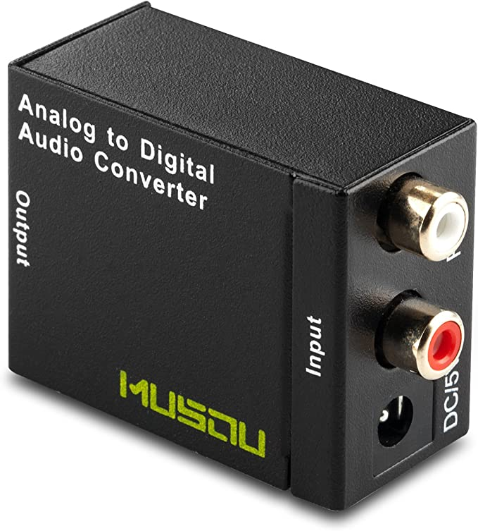 Amazon.com: Musou RCA Analog to Digital Optical Toslink Coaxial Audio Converter Adapter with Optical Cable: Home Audio & Theater