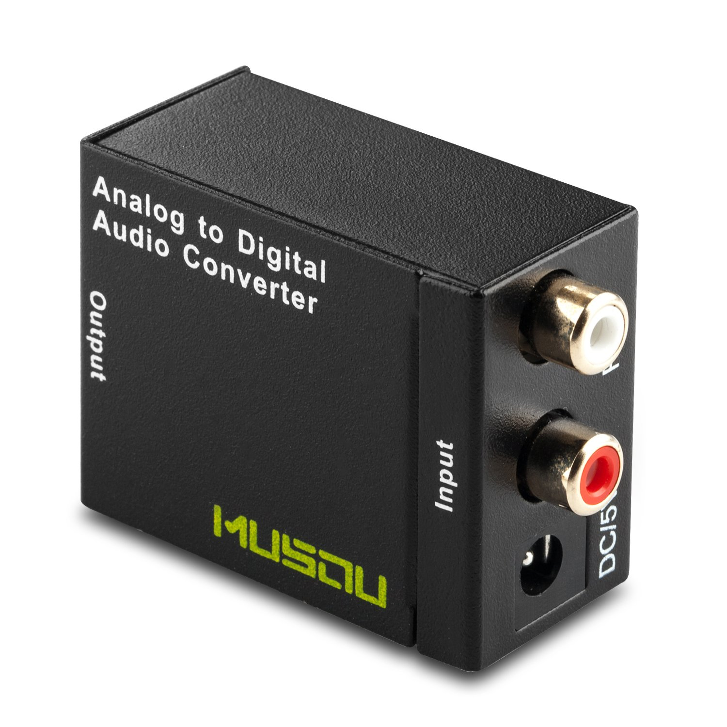 Musou RCA Analog to Digital Optical Toslink Coaxial Audio Converter Adapter with Optical Cable by Musou