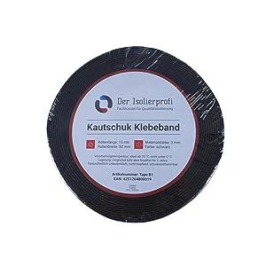 Kautschuk-Isolierklebeband 50 x 3 mm, negro 15 mtr., Original