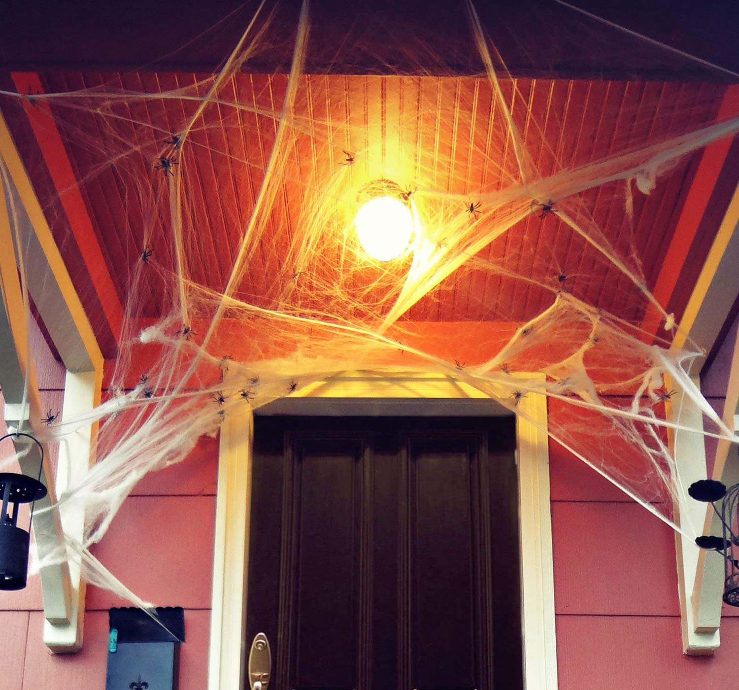 Jshend 1000 sqft Fake Spider Web Halloween Party Outdoor Decorations Supplies (JH01)