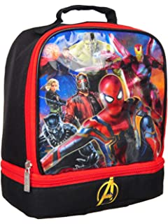 4SGM Marvel Avengers Captain America Superheroes Dual Insulated Lunch Box - Lunchbox